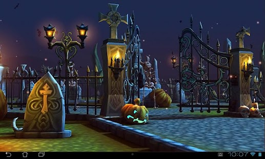 Halloween Cemetery 3D LWP Screenshot