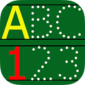 ABC123 English Alphabet Write icon