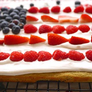 Vanilla Avocado Cake with Whipped Coconut Cream and Berries (paleo, GF).