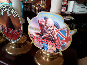 Photo: Had my first taste of Robinsons Trooper at the British Grenadier pub in Colchester. Note the Iron Maiden theme.