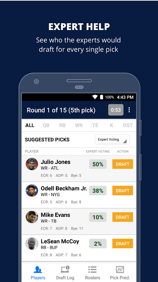 Fantasy Football Draft Wizard (NFL 2017) - Android Apps on ...