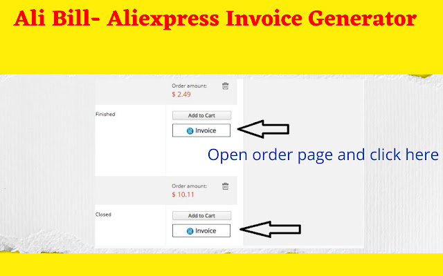 AliBill - Aliexpress invoice Generator