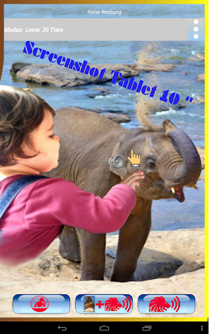 android Kinder Wildtier Zoo Lern&Spiel Screenshot 8