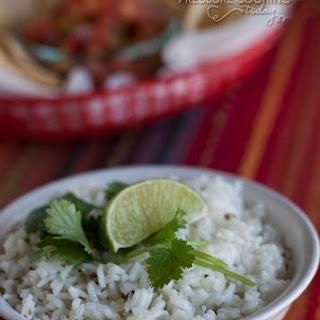 Chipotle's Cilantro Lime Rice in the Pressure Cooker