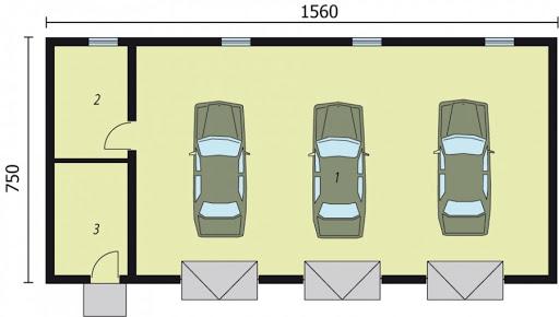G217 - Rzut garażu