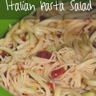 Angel Hair Pasta Salad With Italian Dressing Recipes.
