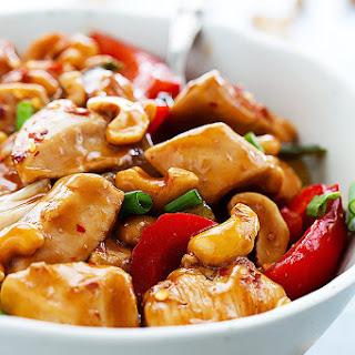 Slow Cooker Spicy Cashew Chicken