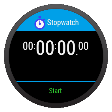 Stopwatch for android wear – Screenshot