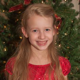 Christmas smile by Michael Graham - Babies & Children Child Portraits ( christmas tree, tree, christmas lights, christmas, holiday,  )