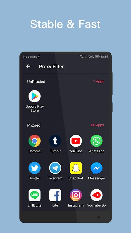 VPN Inf - Free stable fast unlimited VPN. screenshots