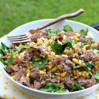Greek Beef Hidden Veggie Couscous.