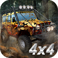 Offroad rally: driving 4x4 trucks