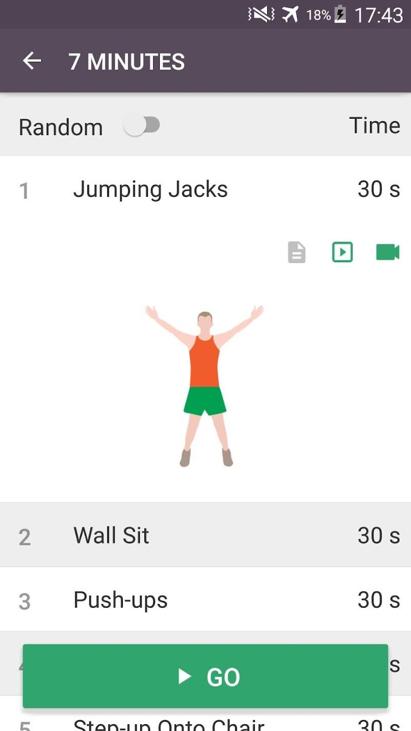 Home Workout - No Equipment & Meal Planner Screenshot 1