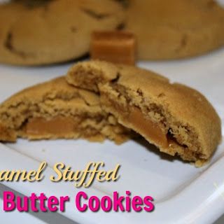 Caramel Stuffed Peanut Butter Cookies.