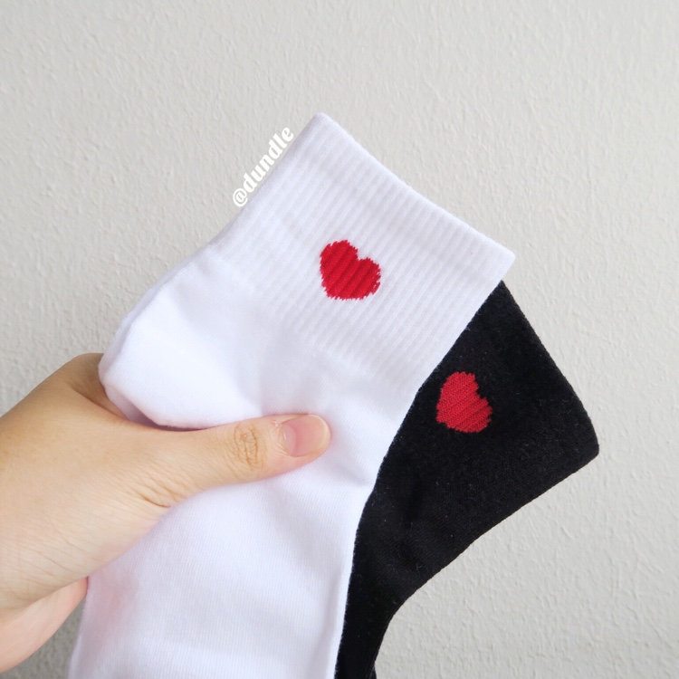 Heart Socks (White)