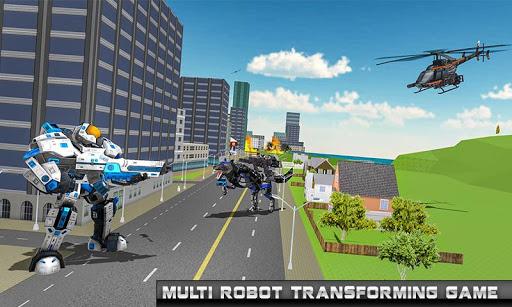robot hélicoptère transform loup robot futuriste  captures d'écran 4