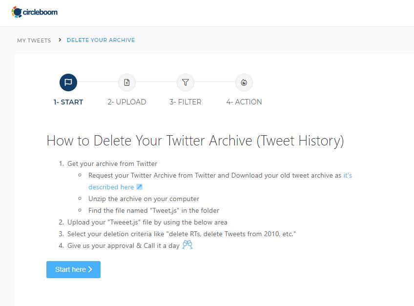 delete tweets date