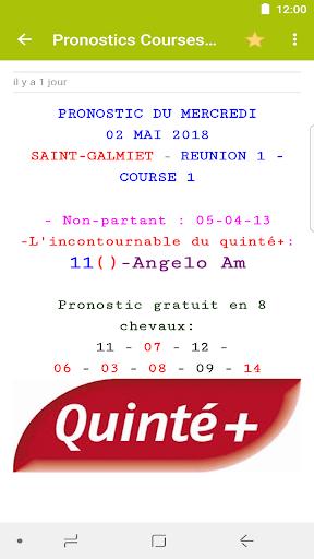 Pronostics Courses : Tiercu00e9, Quartu00e9, Quintu00e9 5.0.1 screenshots 3