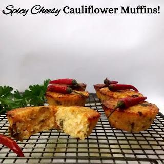 Spicy Cheesy Cauliflower Muffins