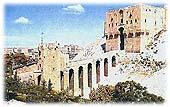 Image result for ‫قلعة حلب رسم‬‎