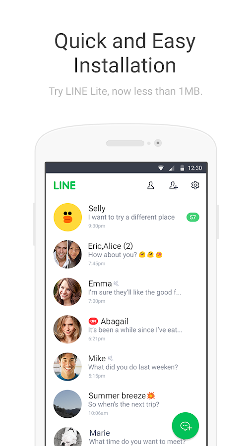LINE Lite: Free Messages- screenshot