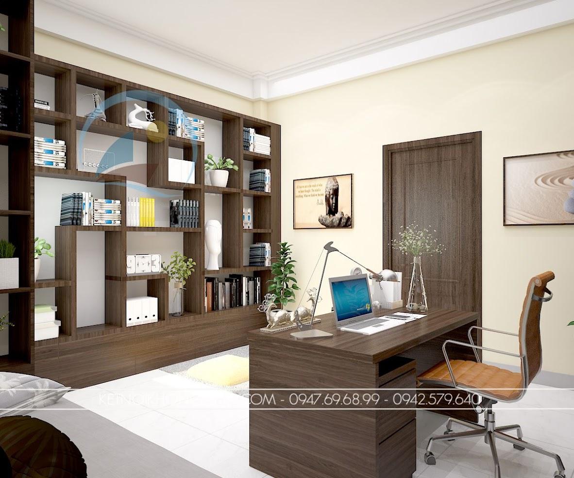 thiết kế phòng làm việc kết hợp phòng đọc sách và thiền 7