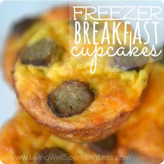 Freezer Breakfast Cupcakes