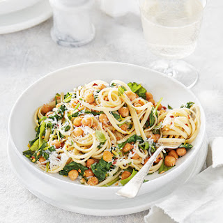 Spinach & Herb Chickpea Linguine Recipe