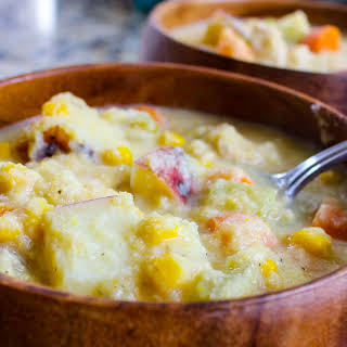 Lightened Up Chicken Corn Chowder.