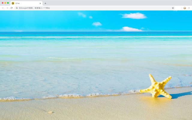 Beach HD Wallpaper New Tab - Qtab
