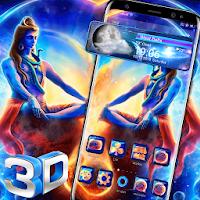 Lord Shiva 3D Glass Tech Theme ?️