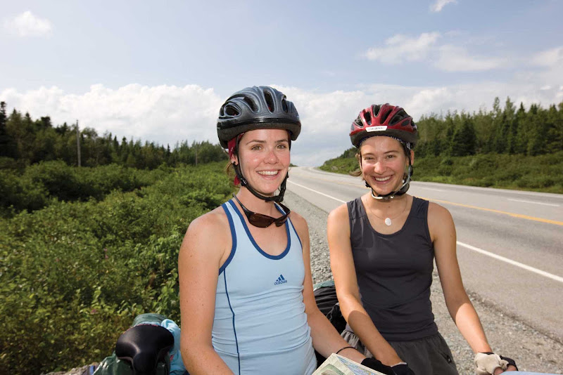 Bikers outside Gander in central Newfoundland.