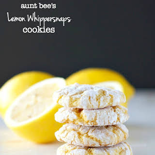 Aunt Bee's Lemon Whippersnaps {Cake Mix Crinkle Cookies}.