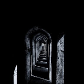 dark corridor  by Jayanta Roy - Buildings & Architecture Other Interior ( building, stock, corridor, black and whit, photo )