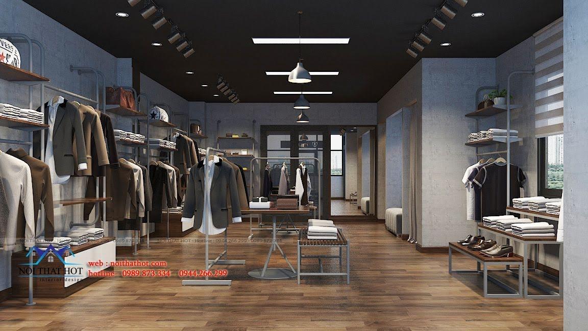 thiết kế shop thời trang nam polido 10