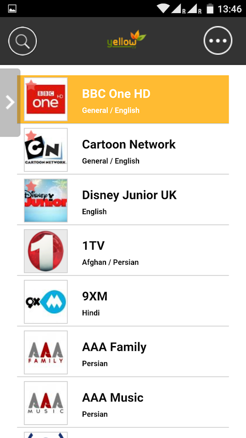 Yellow Tv Player Android Apps On Google Play