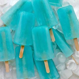 Salted Blue Lemonade Margarita Popsicles.