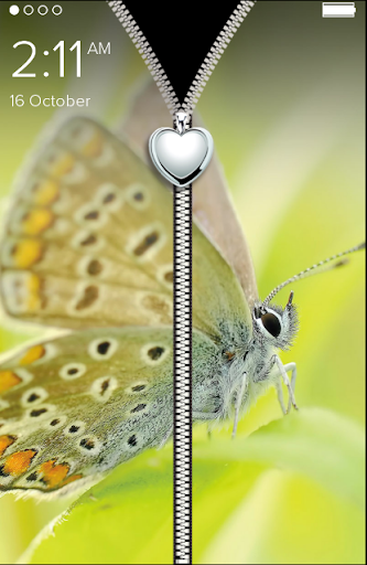 Cute Butterfly Zip Lock Screen