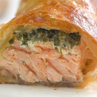 Herb Coated Salmon in Puff Pastry Recipe