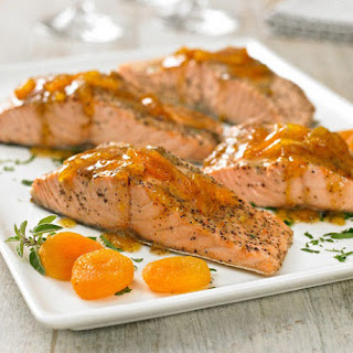 Apricot and Country Mustard Salmon