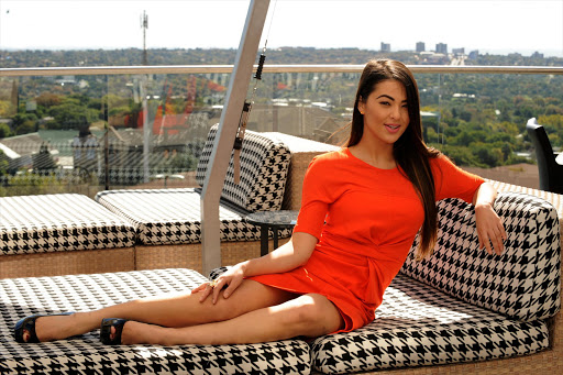 South African TV presenter Lalla Hirayama during an interview. Picture: Tsheko Kabasia / Sunday World.