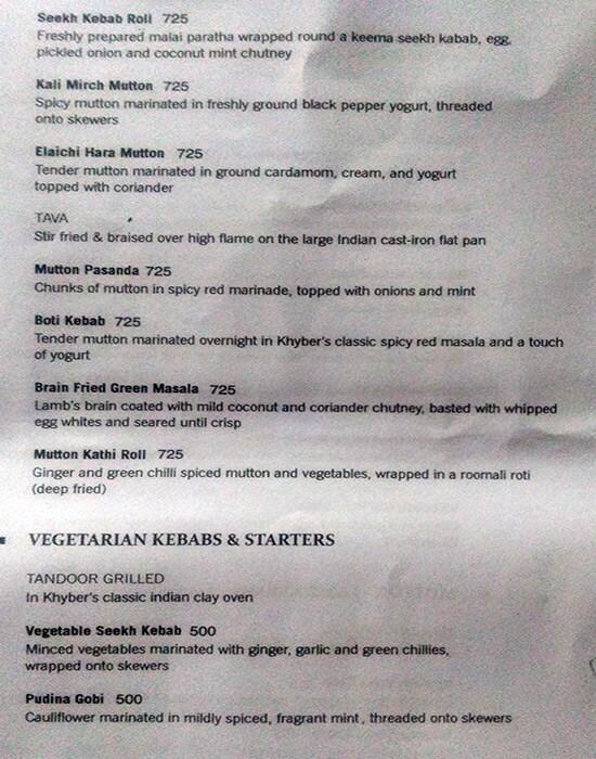 Khyber menu 2