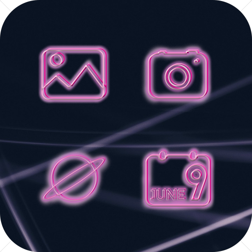 Pinkneonlauncher Young Icon Pack
