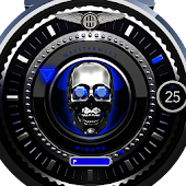 Blue Pirate Watch Face
