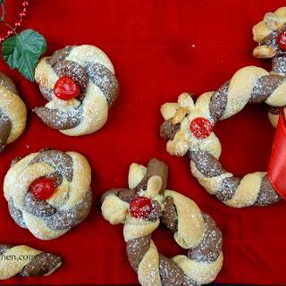 Festive Choco-cream Twister Biscuits