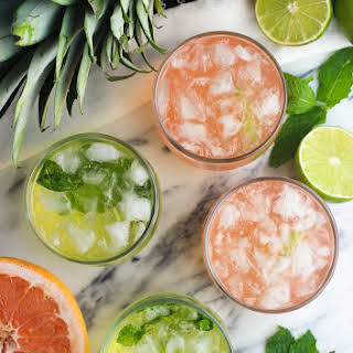 Fruity Vodka Sodas (Pineapple Mint and Grapefruit Lime).