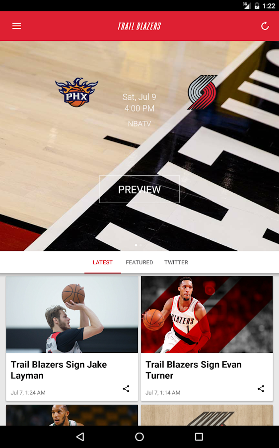 Portland Trail Blazers- screenshot