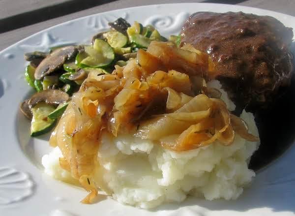 Horseradish Mashed Potatoes With Caramelized Onion