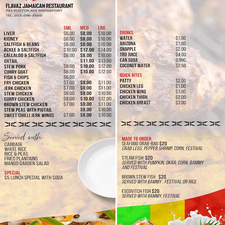FLAVAZ JAMAICAN RESTAURANT - Restaurant in BRIDGEPORT