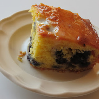 French Vanilla Lemon Blueberry Pound Cake.